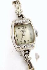 14k WHITE GOLD Girard Perregaux 14mm 52 AK Diamond Bezel Chain Bracelet Watch