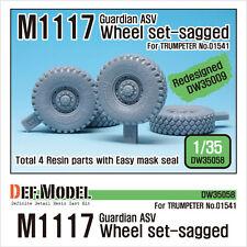 Def. model, us M1117 guardian asv affaissée wheel set (trumpeter) réorganisé, DW35058