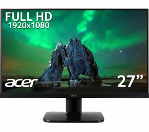 "ACER KA270HAbid Full HD 27"" LED Monitor - Black - Currys"