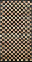 Checkered Gabbeh Oriental Area Rug Hand-Knotted Wool Contemporary Carpet 5x9 New