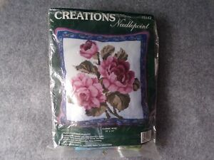 "Creations Needlepoint Classic Rose 14""x14"" Cushion Front Tapestry Kit (Unused)"