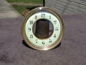Open Escapement Porcelain Dial Beveled Glass Bezel French Mantle Shelf Clock