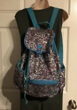 Justice Sequins Backpack Pink Blue Turquoise