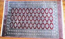 Stunning Vintage Bokhara Hand Knotted 250+ Kpsi (Fine) Wool Rug 5' x 8' Pakistan