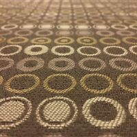 TOP QUALITY BROWN SPOTS CIRCLES UPHOLSTERY JACQUARD FABRIC MATERIAL SALE!