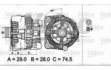 VALEO Alternador para BMW Serie 5 X5 7 6 437498