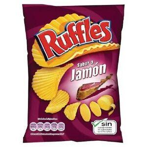 5 X 200 g - Ruffles / LAYS  POTATO CRISPS - SPANISH SERRANO HAM TASTE