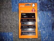 3 Pack New Tdk Dvc 60 min Mini Digital Video Cassette Blank Tapes Factory Sealed
