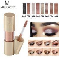 Waterproof Metallic Shiny Eyeshadow Glitter Liquid Eyeliner Makeup Eye Liner NEW