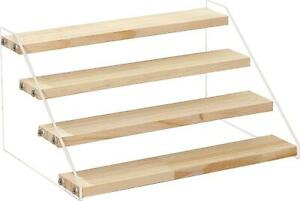 Wood Display Stand Step Riser for Figures Cupcakes Perfumes