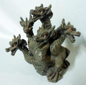 5 Headed Dragon Censer Incense Burner