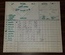 Broadcasters Original Scorecard 6-7-72 White Sox HOF Goose Gossage 1ST MLB SAVE
