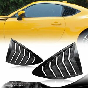 Carbon Style Side Window Louvers Scoop Cover Vent For 13-20 SUBARU BRZ/SCION FRS
