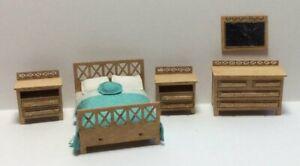 Quarter Inch Scale Modern Bedroom Furniture Kit