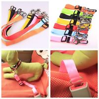 Adjustable Pet Dog Travel Seat Belt Clip Lead For Car Safety Restraint Harnesses