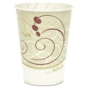 Dart SCCR9NSYM Waxed Paper Cold Cups, 9 Oz., Symphony Design, 100/bag