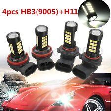 Combo 9005-HB3 H11 LED Headlight Bulb Set 42-SMD Super White 6000K Hi/Lo Beam US
