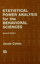 Statistical Power Analysis for the Behavioral Sciences by Cohen (2nd Ed)