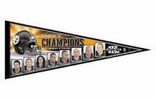 """Wincraft NFL Pittsburgh Steelers Super Bowl Champions Player Pennant 12"""" X 30"""""""
