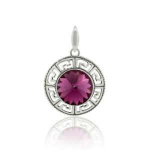 Sterling Silver Rivoli Pendants with SWAROVSKI 1122 14mm Crystals * All Colors