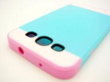 Samsung Galaxy S III S3 Multi Tone TPU HYBRID Case Phone Cover Teal White Pink