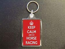 KEEP CALM AND GO HORSE RACING KEYRING GIFT BAG TAG BIRTHDAY GIFT
