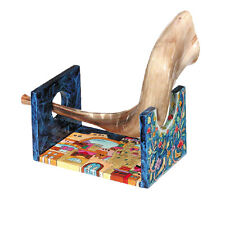 Shofar Stand Hand Painted Colorful Jerusalem SMALL New