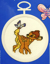 Bambi & Butterfly - Janlynn Cross-stitch kit - with frame