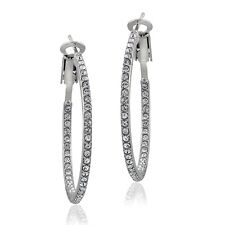 Crystal Inside-Out 30mm Hoop Earrings with Swarovski Elements