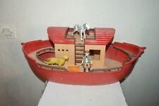 BATEAU  PLAYMOBIL   L ARCHE DE NOE  BOAT  NOAH + 2 ANIMAUX ET 1 PERONNAGE 2003