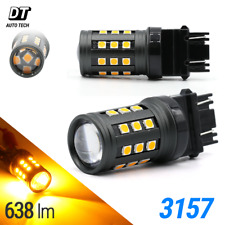 40W 3157 Led Amber Yellow Front Turn Signal Parking Drl High Power Light Bulbs(Fits: Neon)