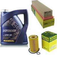Motor-Öl 5L MANNOL Defender 10W-40 +MANN-FILTER für Renault Twingo C06_ 1.2 16V