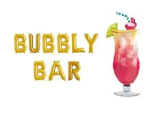 """BUBBLY BAR Letter Balloons - Margarita Balloon - 16"""" Gold Letters - US SHIP"""