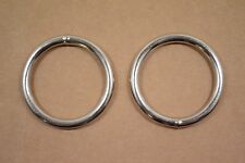 """O Ring - 1 3/4"""" - Nickel Plated - Wire Welded - Pack of 6 (F424)"""