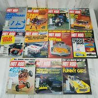 VTG 11 Hot Rod Magazines From 1973 Jan thru Nov Funny Cars Corvettes Trucks Van