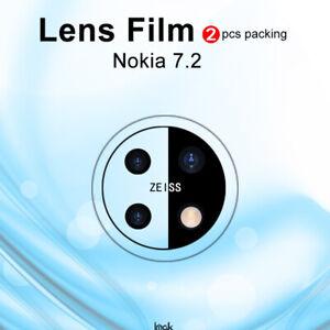 2pcs IMAK Clear Camera Lens Tempered Glass Film For Nokia 7.2 / 6.2 / 5.3 / 5.4