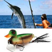 3D Simulation Duck Fishing Lure Suicide Floating Ducks Topwater Bass-Muskie-Pike
