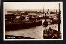 Barry Docks - real photographic postcard