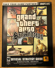 Grand Theft Auto San Andreas GTA Brady Games Official Strategy Guide for Ps2
