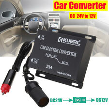 DC 24V to DC 12V 20A Car Power Inverter Converter Truck Subwoofer Modified Car
