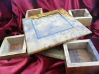 Handmade Thuya wooden jewelry collectible puzzle box, handmade secret turning
