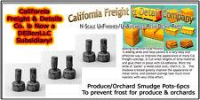 Farmer Produce/Orchard Smudge Pots (6pcs) N/Nn3/1:160 California Freight *NEW*