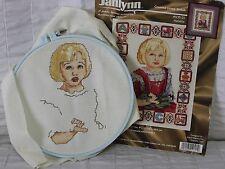 "Janlynn Counted Cross Stitch Melanie 105-21 Blond Girl 8x10"" Finished Hoop"