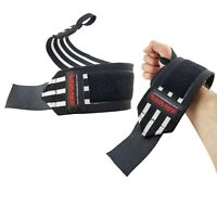 Best Wrist Wraps Weight Lifting Straps Workout Brace Support Gym Power Lifting