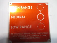 Nameplate Landrover 80 Series 1 Plate Circuit Diagram Red s49