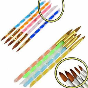 Set De 5 Pinceles Para Crear Uñas Acrílicas/Gel Nail Art Brush Set Manicura B002