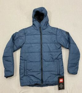 686 Warmix Puffer Jacket Men's Medium Waterproof Blue Steel
