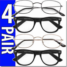 Reading Glasses Readers for Men and Womens 4 Pairs Metal Frame and Classic Retro