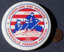 1980 Evansville,Indiana Hydroplane & Heritage Freedom Festival Pin-4th of July!*