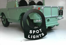 Land Rover Series 1 2 2a 2b Metal Switch Tab Badge Decal Label Spot Lights Lamps